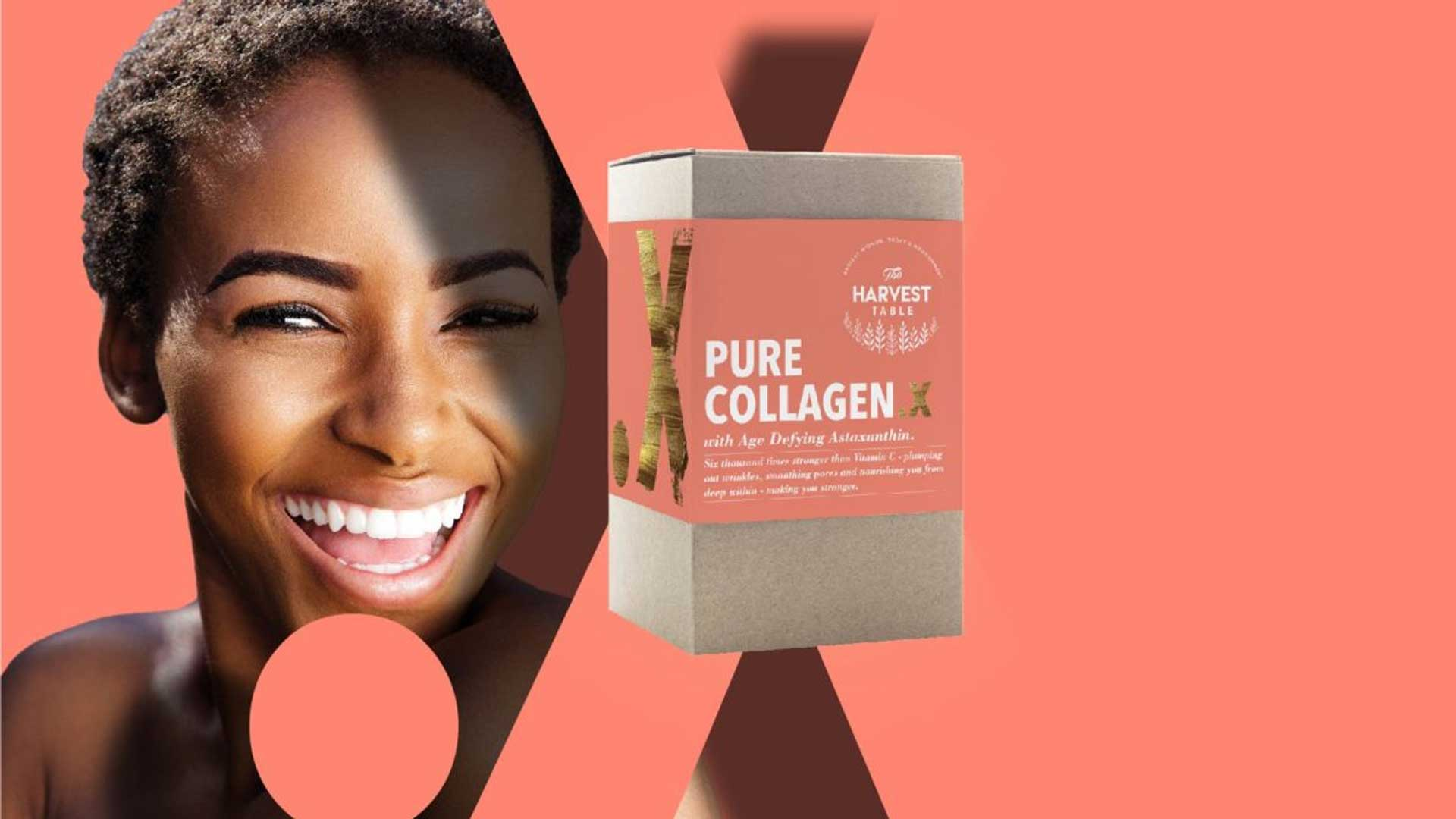 lady with collagen X box from the harvest table